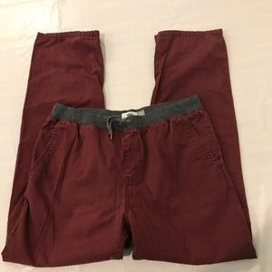 Old Navy Boys Jogger Pants XXL Husky Maroon